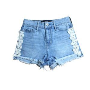 5/$25 Hollister High Rise Denim Short Shorts 00